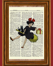 Kiki's Delivery Service Dictionary Art Print Poster Picture Anime Kiki Ghibli