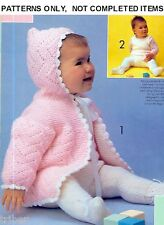 Knitting Crochet PATTERNS Baby Christening Gown Dresses Rompers Sweaters  #238