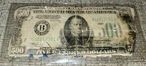 500 Bill Very Rare Print AFFORDABLE