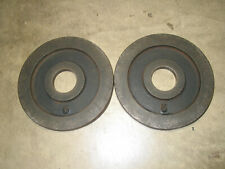 Vintage York Olympic Barbell Plates---Five Pound Weight---Lot of Two