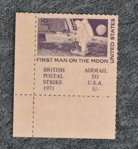 1971 Postal Strike Single - First Man on the Moon - MNH