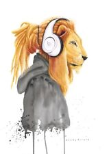 RASTA BEATS: Giclee limited edition printed on Hahnemuhle German Etching