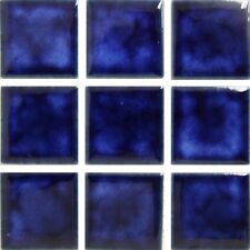 "Fujiwa Porcelain Swimming Pool Waterline Tile - CEL-211 MARBLE BLUE 2"" X 2"" PAC2"