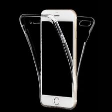 360° Full Cover Front Back Clear Silicone Case Skin for Apple iPhone 6 6S 7 Plus