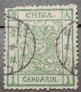 China 1878 Large Dragon 1Ca Sc#1, broken line frame var, used