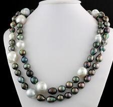 Largo perl-collier con OSCURA perlas de TAHITÍ Y Tamaños BLANCA DEL MAR SUR