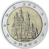 2 euro Germania 2012 Bayern - Castello di Neuschwanstein zecca: A