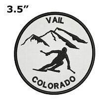 "Vail, Colorado - Extreme Sports Skier 3.5"" Embroidered Iron or Sew-on Patch"