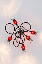 Serien Lighting Poppy Ceiling 5 Arm Wandleuchte Deckenleuchte Glas mundgeblasen