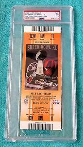 SUPER BOWL XL FULL TICKET - PSA 7 NM - ORANGE VAR - PITTSBURGH - SEAHAWKS - NFL