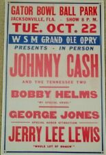 Johnny Cash Concert Poster - 11 x 17 - George Jones - Country Music - Jerry Lee