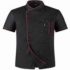 Chef Coat ShortSleeve Jacket Restaurant Kitchen Workwear Cool Uniform Top Xl-3Xl