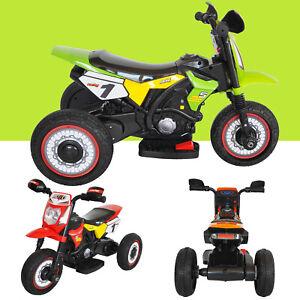 Kids 6V Battery Motorbike Motorcycle Motocross Trike Tricycle  Bike Ride On Car