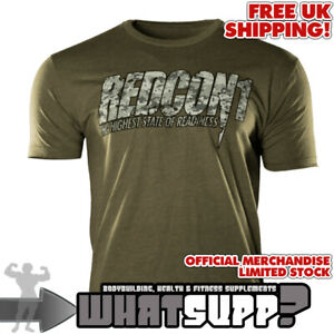 REDCON1 OFFICIAL T-SHIRT Digi Camo on Green  Size Med Bodybuilding LIMITED STOCK