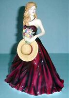 Royal Doulton Pretty Ladies Anne Figurine in Purple Gown HN5332 New In Box