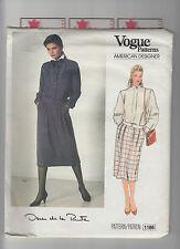 VOGUE 1186 pattern skirt top OSCAR DE LA RENTA Sz 12 uncut unused vintage 80s