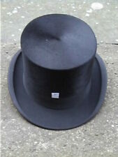 Large Antique. Ambassador Continental Black Silk Top. Hat Sz 7 1/8 ..