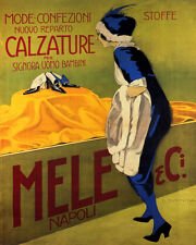 MELE FASHION FOOTWEAR WOMEN ITALIAN SHOES 8X10 VINTAGE POSTER REPRO FREE S/H