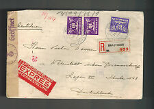 1943 Maastricht Netherlands Hotel Germany Cover Watenstedt Concentration Camp KZ