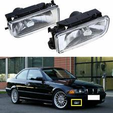 Pair Clear Front Bumper Fog Light Lamp Lens Housing for BMW E36 3 Series 90-00