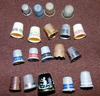 ANTIQUE+Vintage lot of 15+ Thimbles inc Mary Gregory, Advertising, Household etc