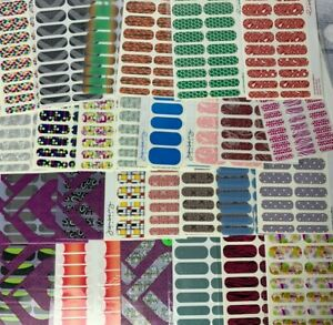 Jamberry Nail Wraps Retired Half Streets Full Sheets 2012 2013 Color Stickers