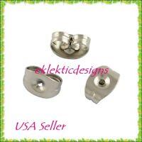 20pcs 5x3mm Surgical Stainless Steel Earring Backs Earnuts Stopper 10pr Findings