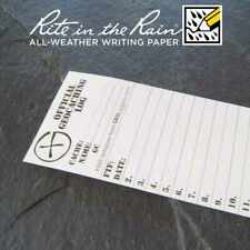 10 x *NEW* GEOLoggers SMALL 5.0cm Geocaching Log Sheet Rite in the Rain