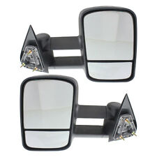 New Set of 2 Power Non-Heated Towing Mirrors for Chevrolet C/K Truck 88-98 Pair
