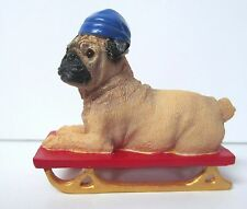 Danbury Mint Pug on Sled Figurine