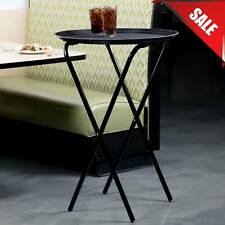 "36"" Restaurant Catering Table & Seating Black Metal Dining Room Folding Tray"
