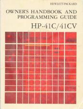 Owner's handbook and Programming Guide Hp41C/41CV & Stat Pac & Math Pac.