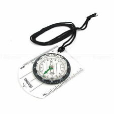 Outdoor Hiking Camping Baseplate Scouts Mini Compass Map Measure Scale Ruler
