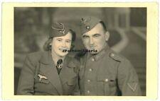 Orig. Foto AK Portrait Heer Nachrichten Helferin Frau Blitzmädel 1943