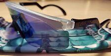 Authentic Oakley Heritage Razor Blades Sunglasses Clear/Violet Iridium ** SALE *