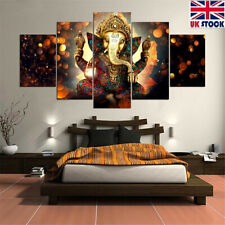 5Pcs Abstract Ganesha Elephant Art Canvas Print Painting Picture Home Wall Decor