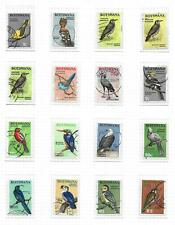 Botswana stamps 1967 Collection of 16 stamps CANC VF HIGH VALUE! BIRDS