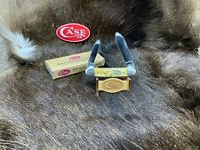 1998 Case Canoe Knife With Jigged White Grooved Bone Handles Mint In Box -  24A