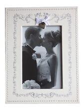 BCBGMAXAZRIA Cream Wedding Faux Leather Photo Picture Frame Freestanding Photogr