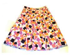 M&Co Womens Long flared linen skirt Lined orange black pink purple grey UK14