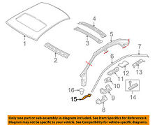 VOLVO OEM 99-06 S80 ROOF-End Extension Right 8663893