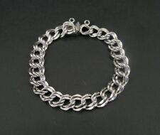 Vintage JB Sterling Silver 925 Double Links Charm BRACELET