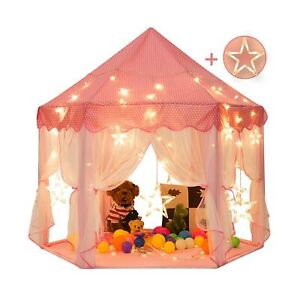 Sunnyglade 55'' x 53'' Princess Tent with 8.2 Feet Big and Large Star Lights ...