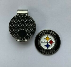 NFL Pittsburgh Steelers Golf Ball Marker and Magnetic Hat Clip + Bonus