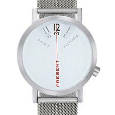 "Projects Watches ""Past, Present, Future"" Quartz Mesh Steel 40mm Watch Men's"