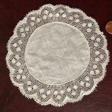 Vintage handmade Valenciennes lace edged doily