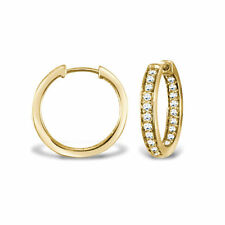 Hoop Yellow Gold I2 Fine Diamond Earrings