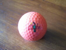 LOGO GOLF BALL-ALOHA....COLORFUL BIRD LOGO. ORANGE BALL