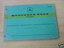 Teilekatalog Mercedes Motor OM 615, Stand 1968