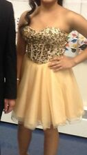 Short Prom Dress Gold By David And Johnny Size 2 Lace Up